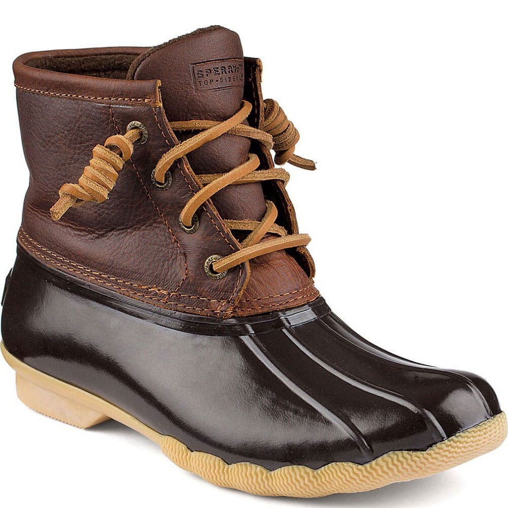 Image for Sperry Women's Saltwater Duck Boots - Tan/Dark Brown from bootbay