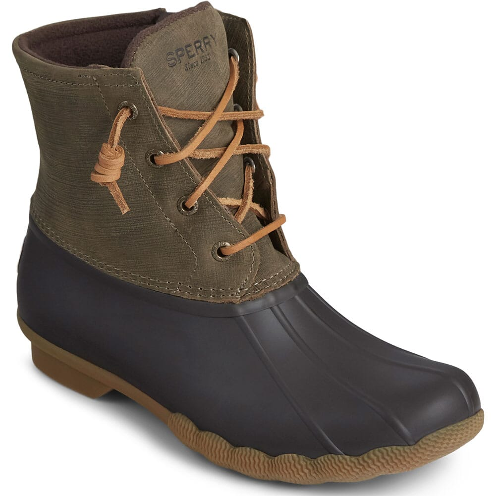 Image for Sperry Women's Saltwater Duck Boots - Brown/Olive from bootbay