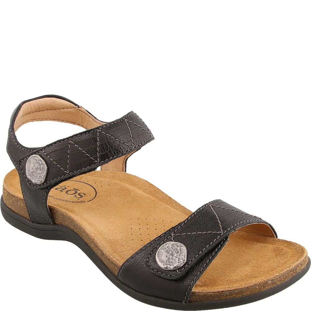Image for Taos Women's Pioneer Sandals - Black from bootbay
