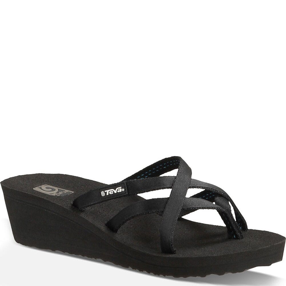 Image for Teva Women's Mush Mandalyn Wedge OLA 2 Flip Flops - Black from bootbay