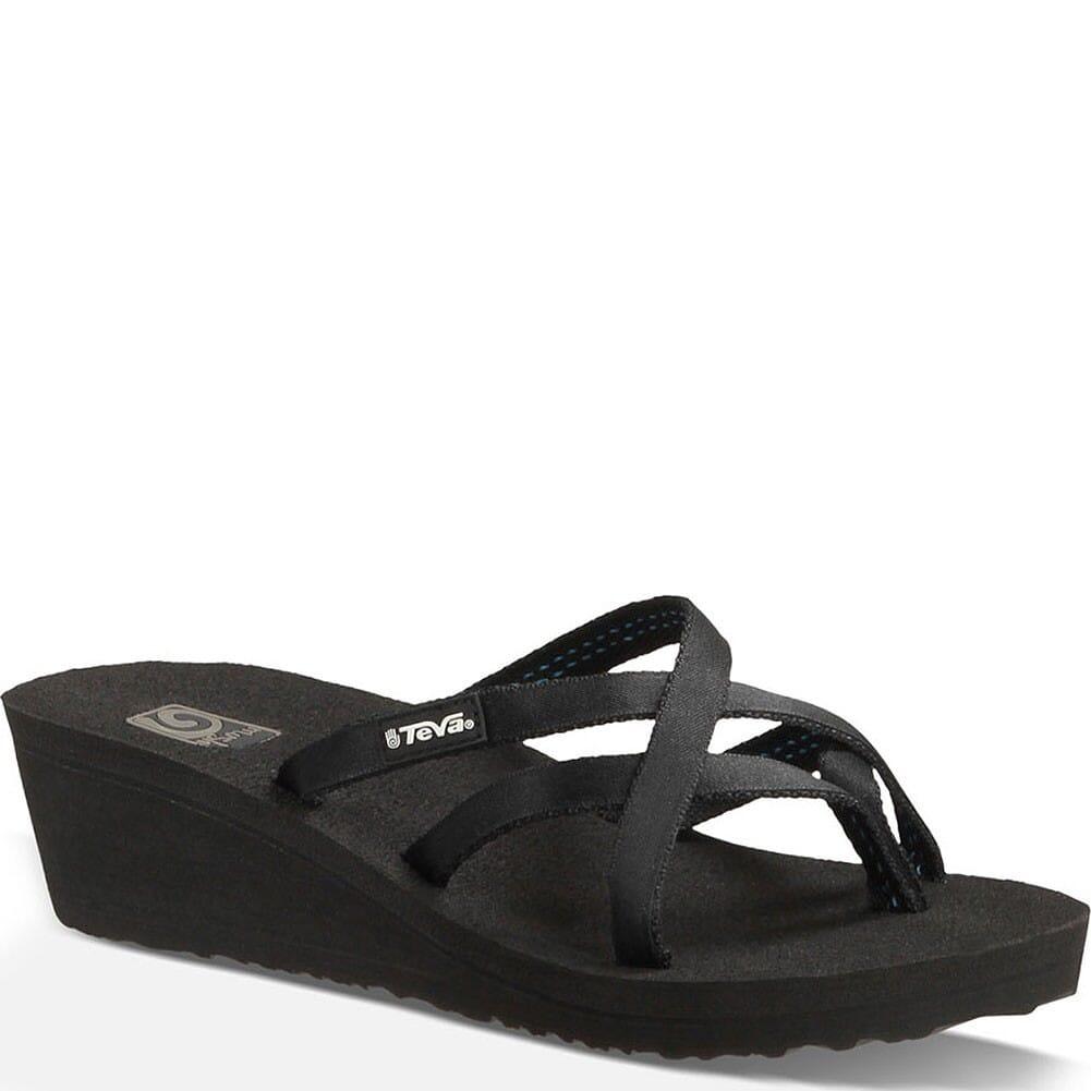 Image for Teva Women's Mush Mandalyn Wedge OLA 2 Flip Flops - Black from elliottsboots