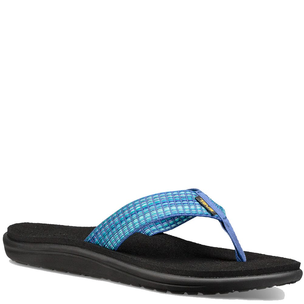 Image for Teva Women's Voya Flip Flop - Bar Street Multi Blue from elliottsboots