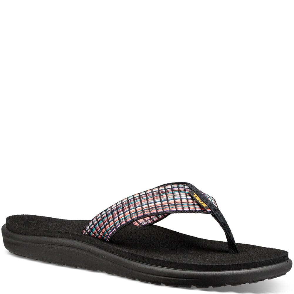 Image for Teva Women's Voya Flip Flop - Bar Street Multi Black from bootbay