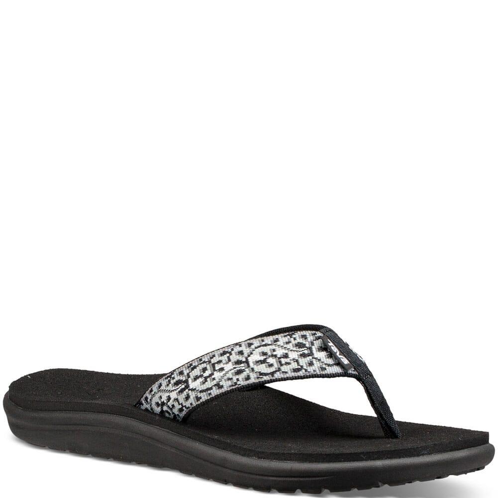 Image for Teva Women's Voya Flip Flop - Companera Black/White from bootbay