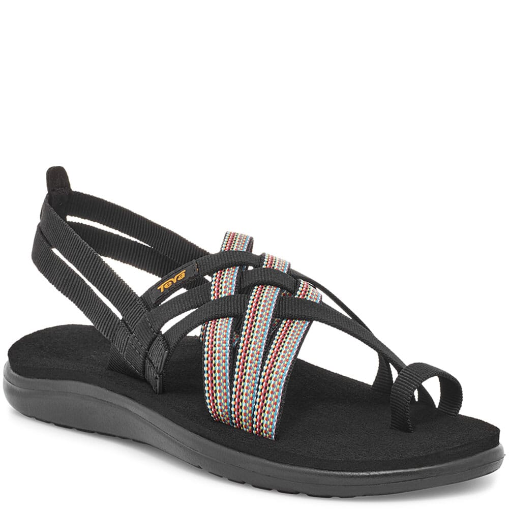 Image for Teva Women's Voya Strappy Sandals - Antiguous Black from bootbay