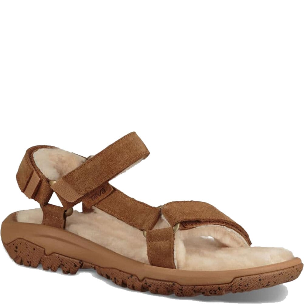 Image for Teva Women's Hurricane Shearling Sandals - Pecan from elliottsboots