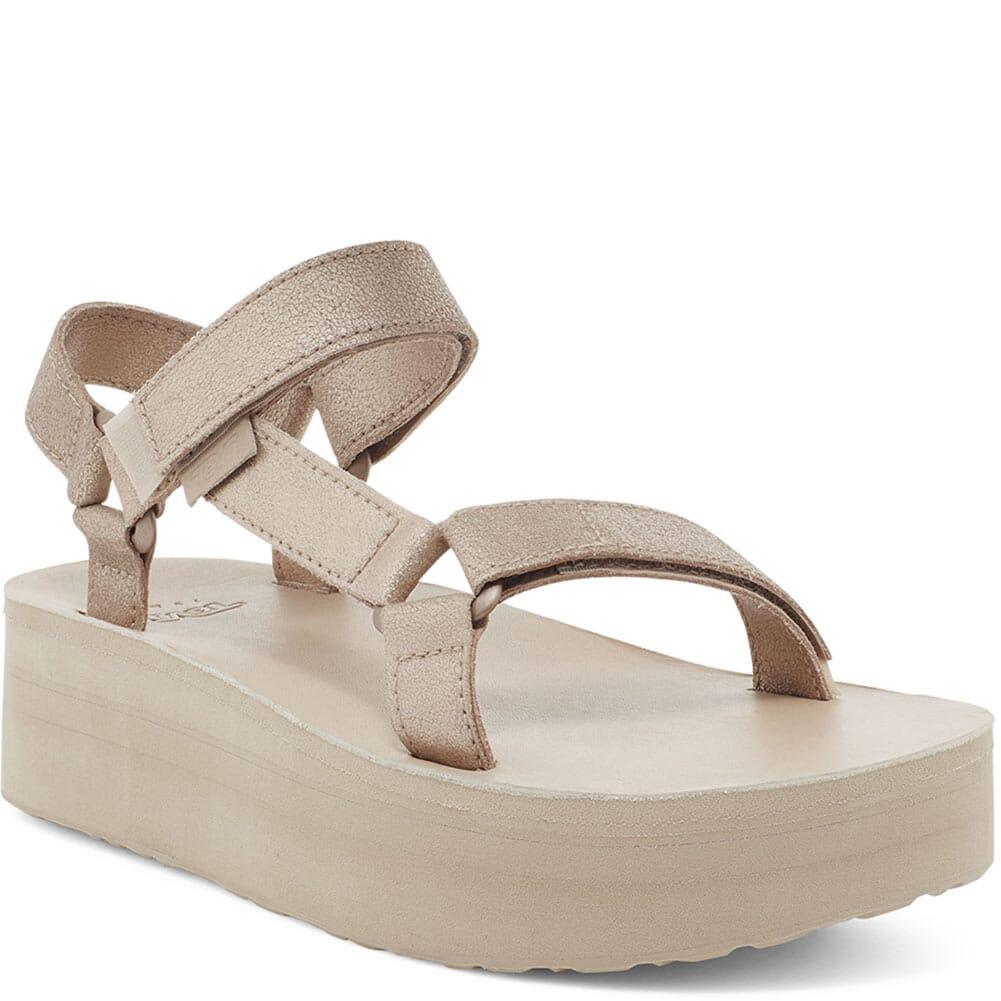 Image for Teva Women's Flatform Universal Sandals - Metallic Champagne from bootbay