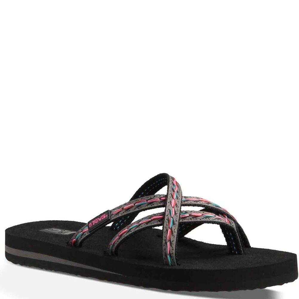 Image for Teva Women's Olowahu Flip Flops - Felicitas Black from bootbay