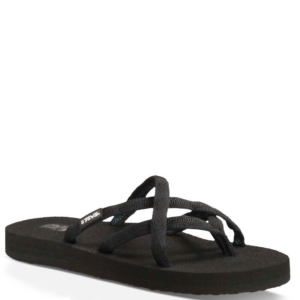 Image for Teva Women's Olowahu Flip Flops - Black from bootbay