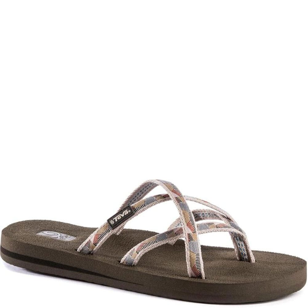Image for Teva Women's Olowahu Flip Flops - Waterfall Antique Gold from bootbay