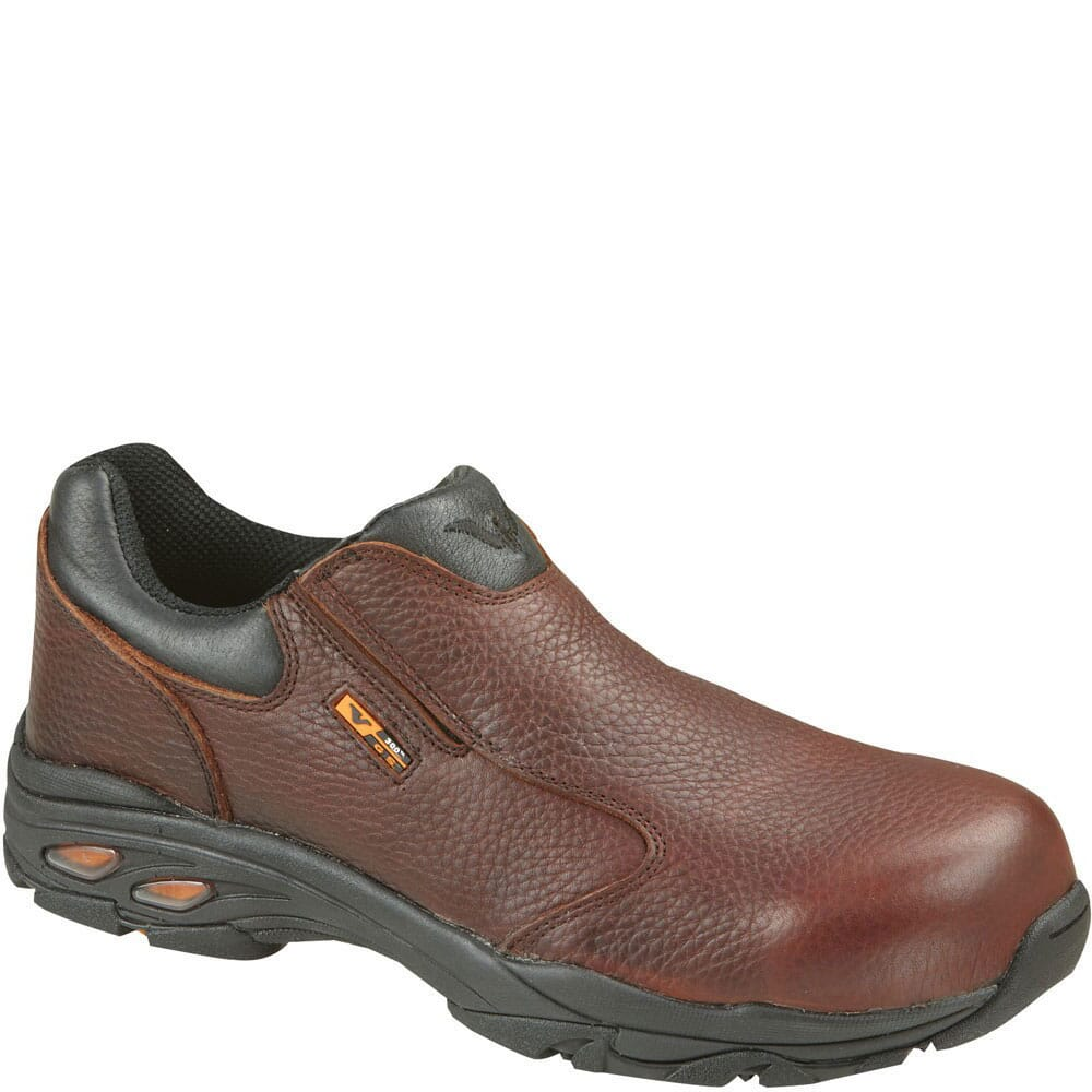 Image for Thorogood Men's Plain Toe Slip-On Safety Shoes - Brown from bootbay