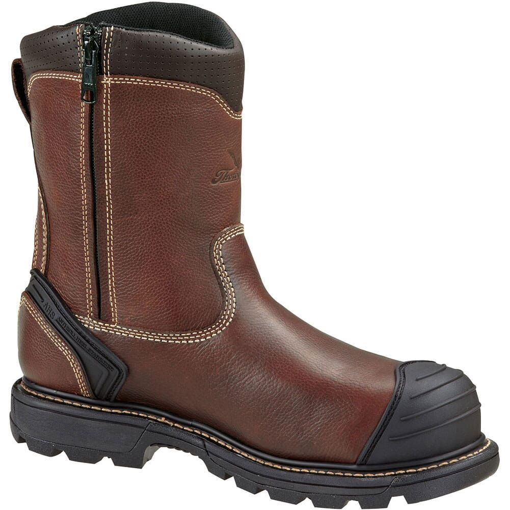 Image for Thorogood Men's Side-Zip Safety Boots - Brown from bootbay