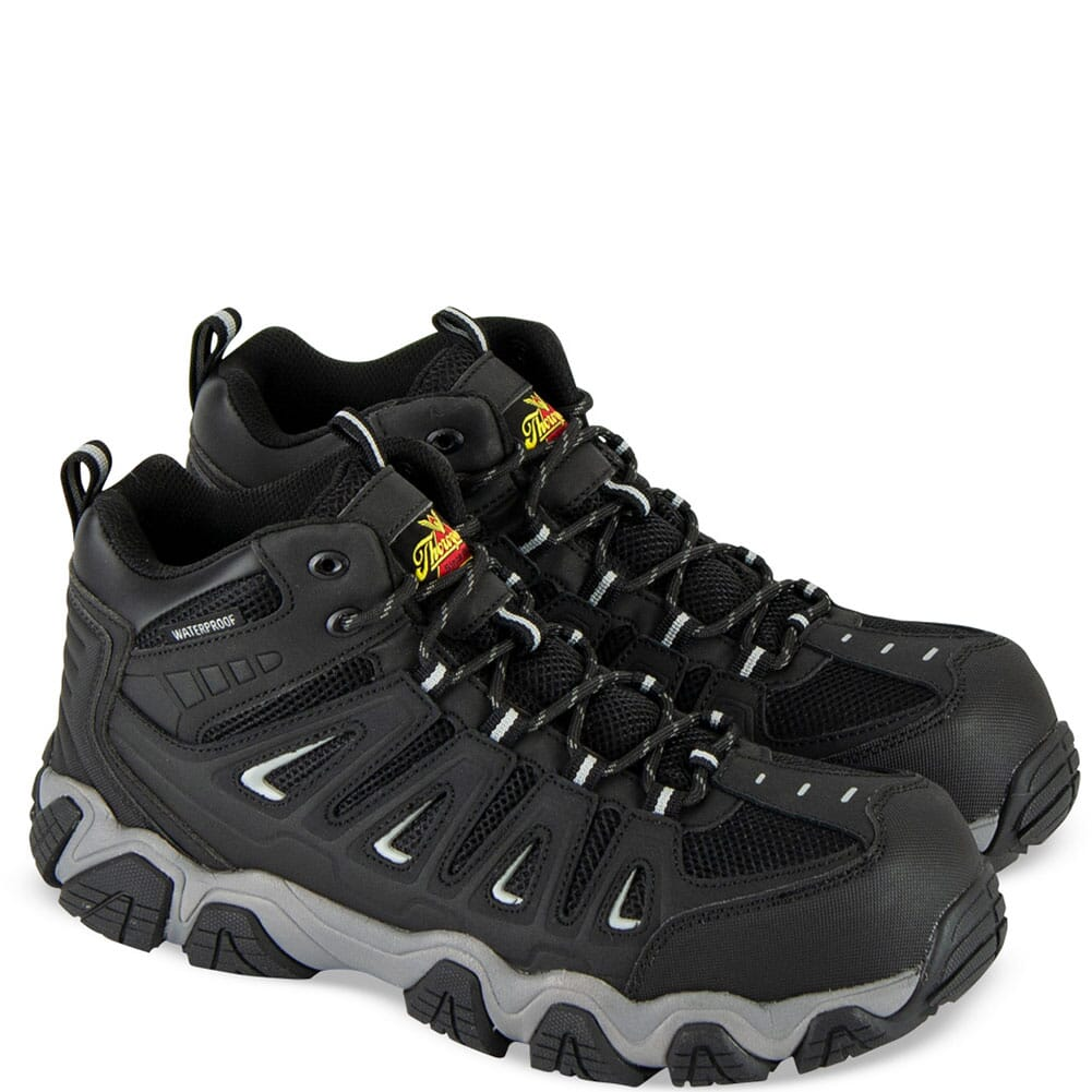 Image for Thorogood Men's Crosstrex Series WP Mid Safety Shoes - Black/Grey from bootbay
