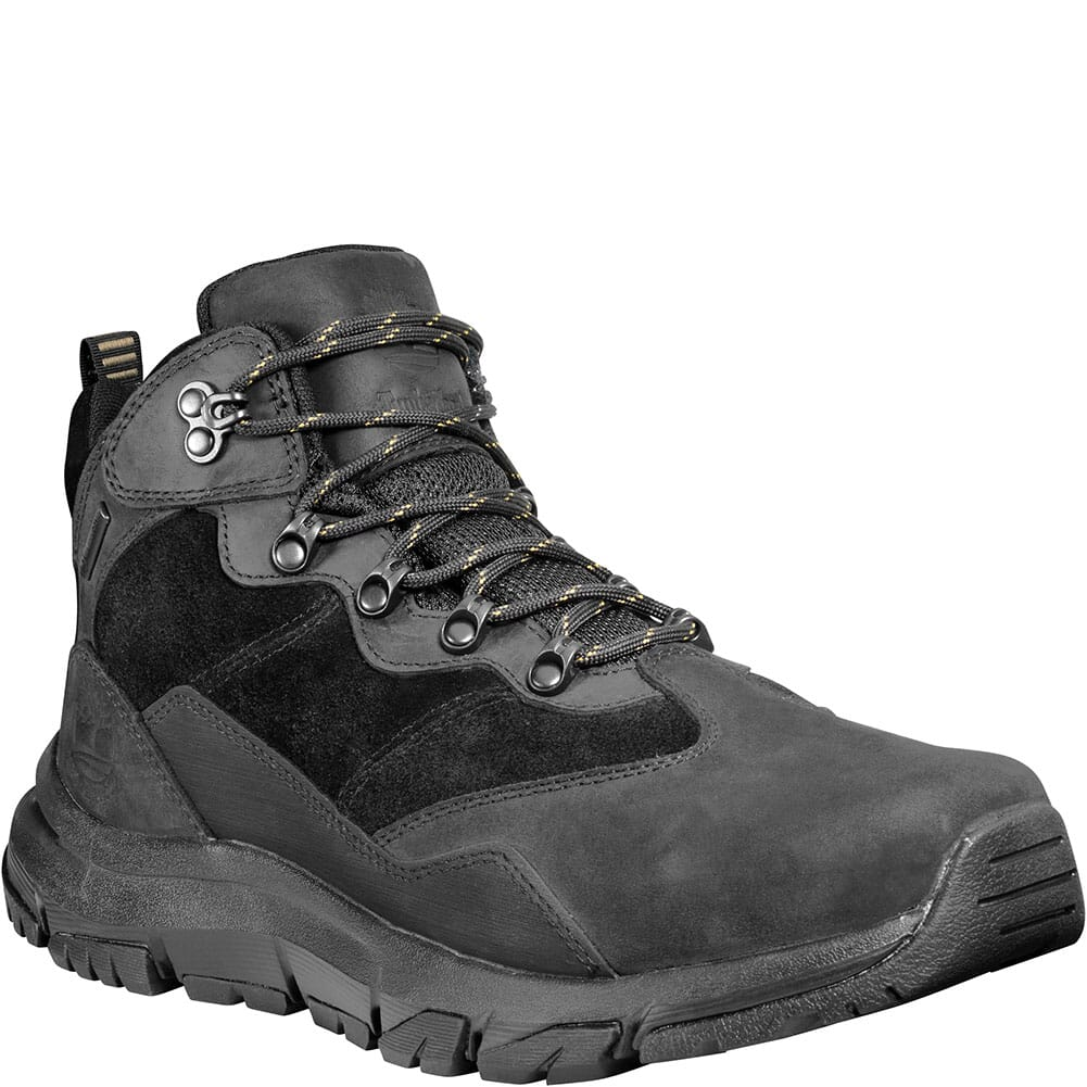 Image for Timberland Men's Garrison Field Mid WP Hiking Boots - Black from bootbay
