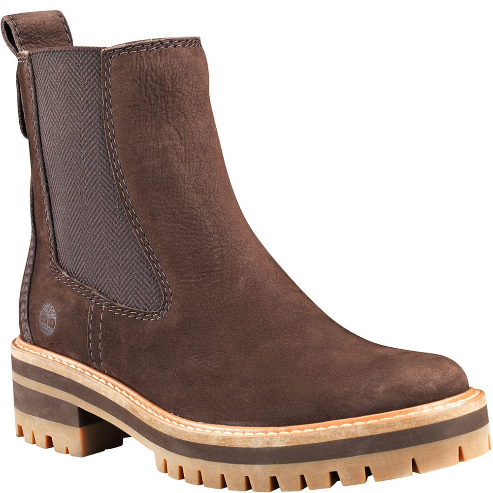 Image for Timberland Women's Courmayeur Valley Chelsea Boots - Dark Brown from bootbay