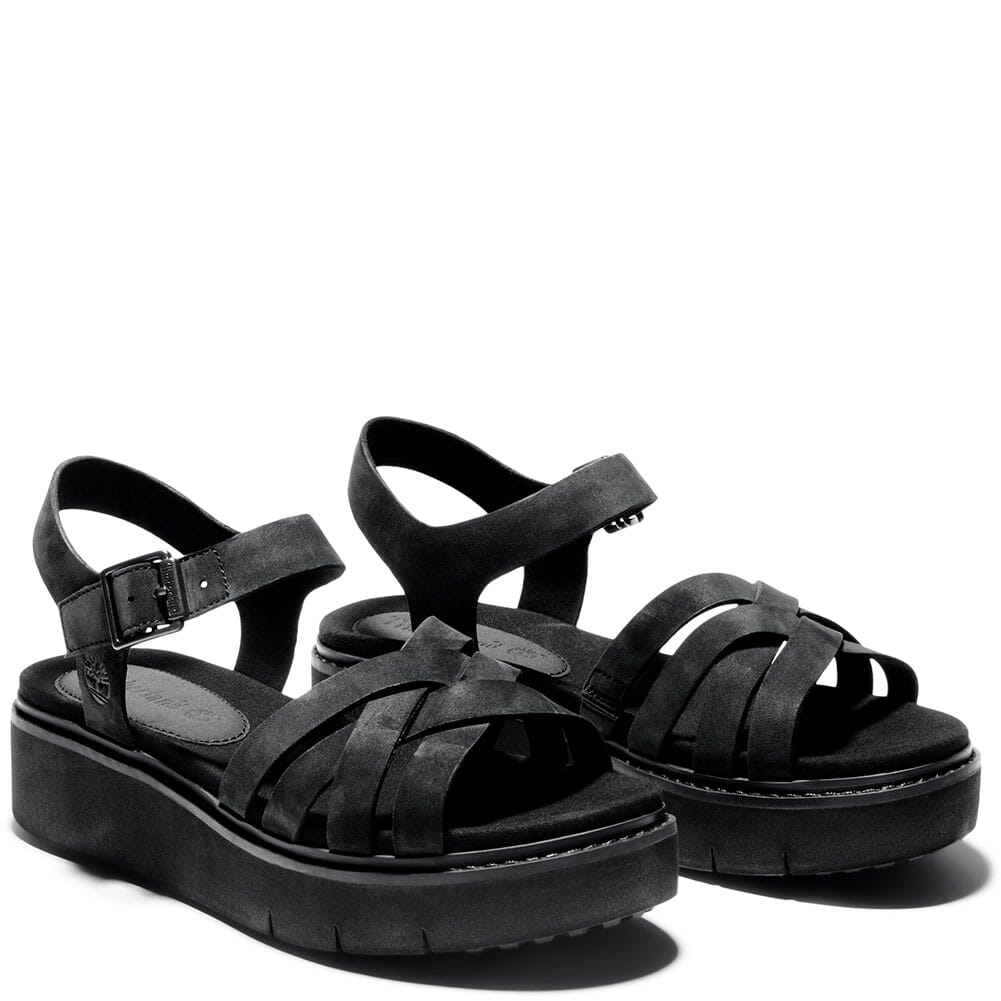 Image for Timberland Women's Safari Dawn Multi-Strap Sandals - Black from bootbay