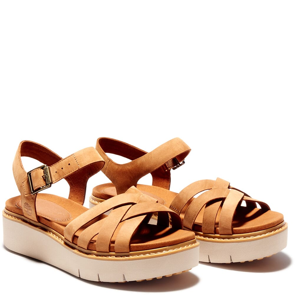 Image for Timberland Women's Safari Dawn Multi-Strap Sandals - Rust from bootbay