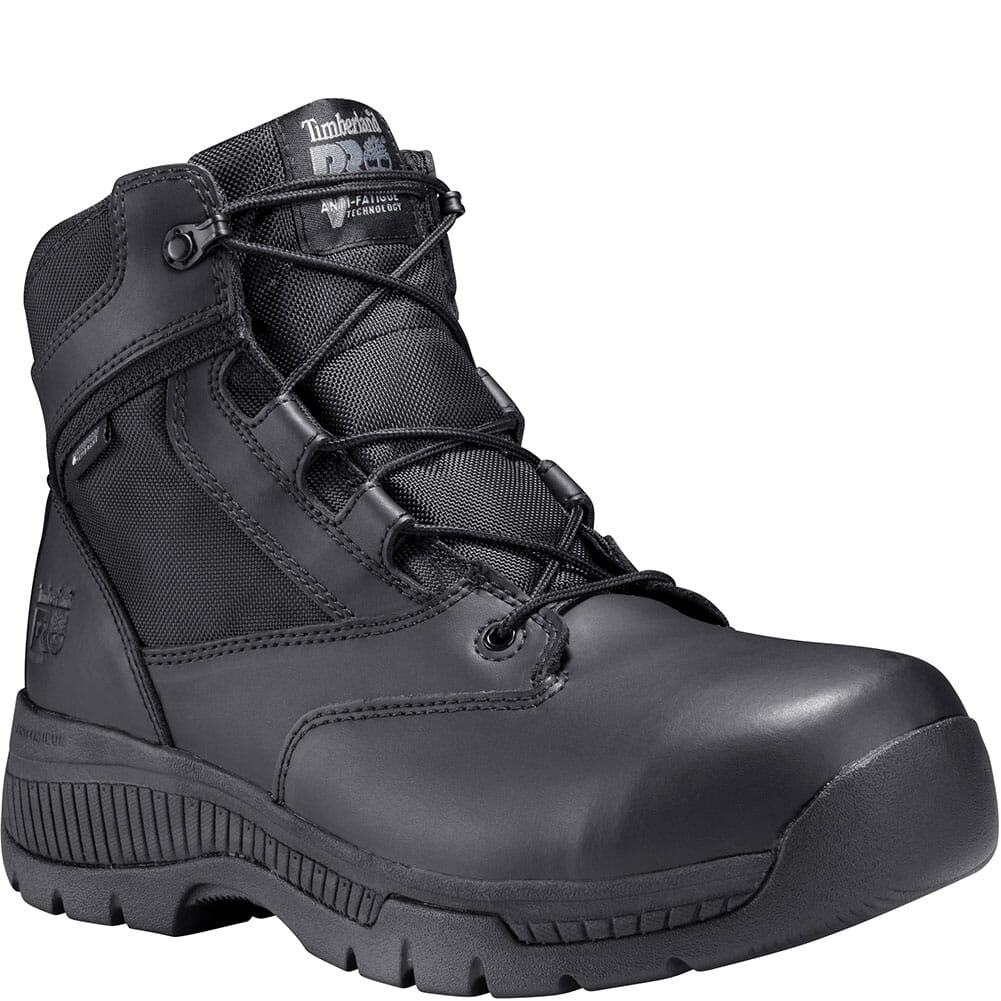 Image for Timberland Pro Men's Valor Duty WP Sidezip Work Boots - Black from bootbay