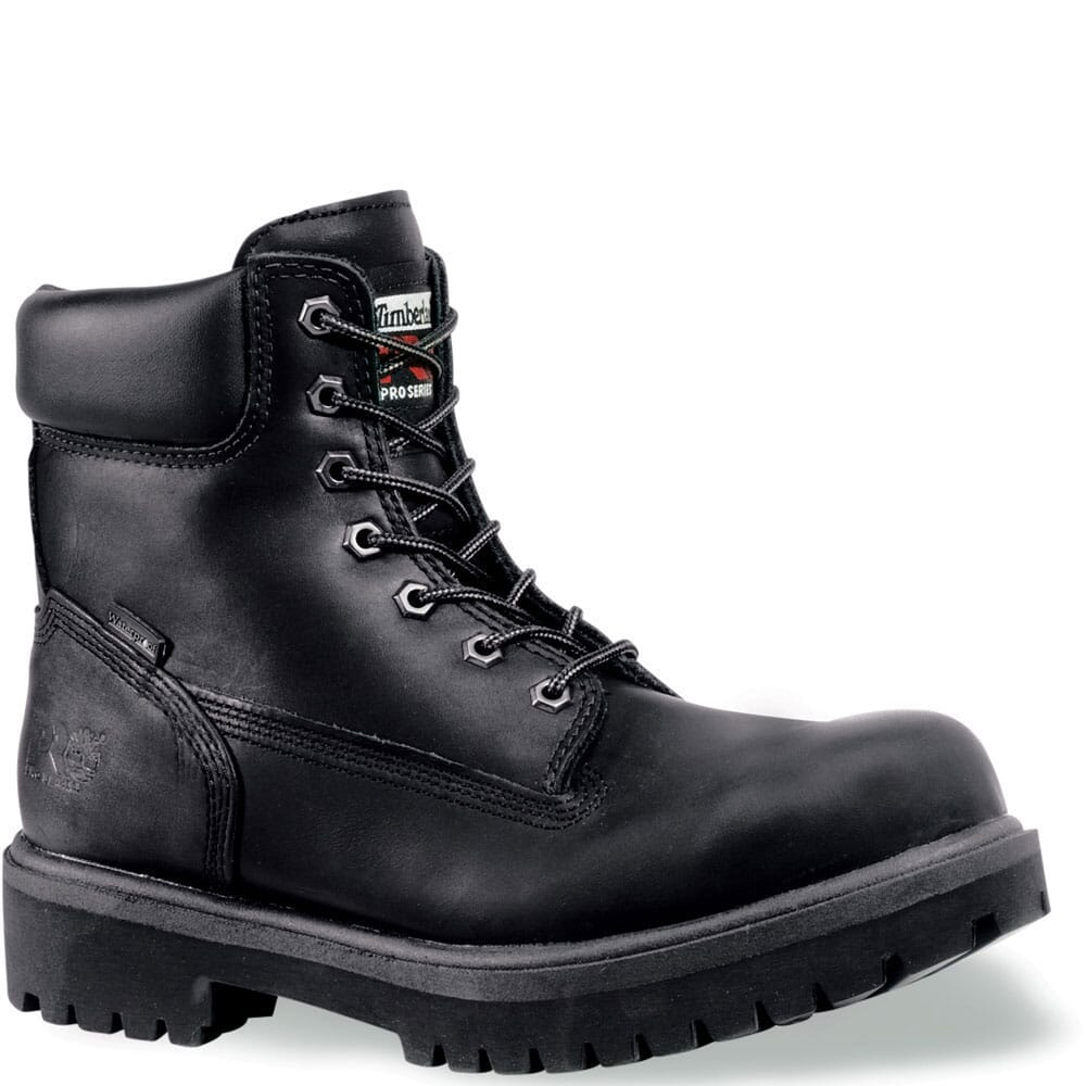 Image for Timberland PRO Men's 6IN BLK Work Boots - Black from bootbay