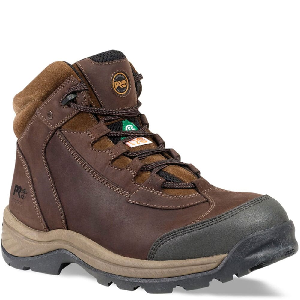 Image for Timberland PRO Men's Ratchet Safety Boots - Brown from bootbay