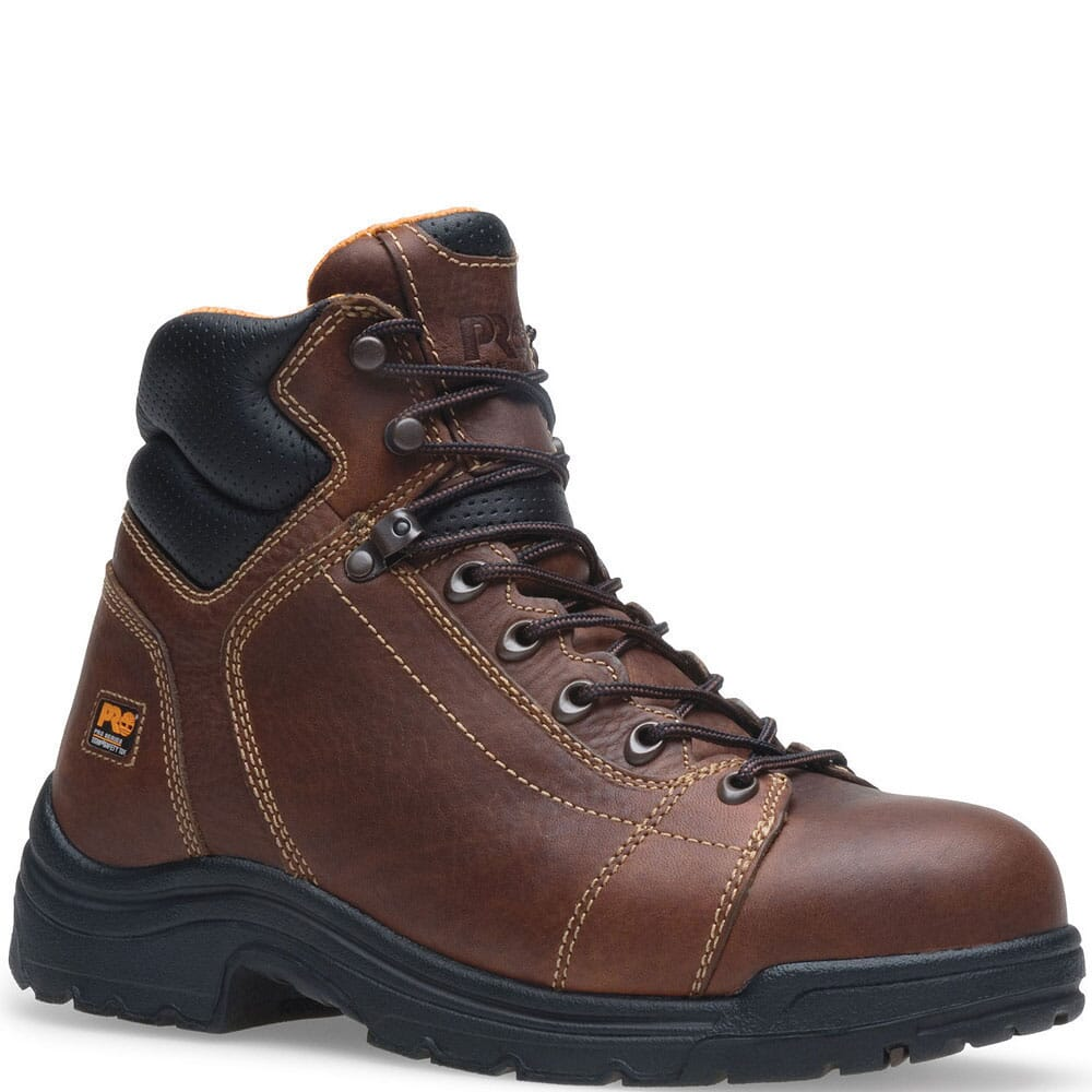 Image for Timberland PRO Men's Titan Lace Safety Boots - Brown from bootbay