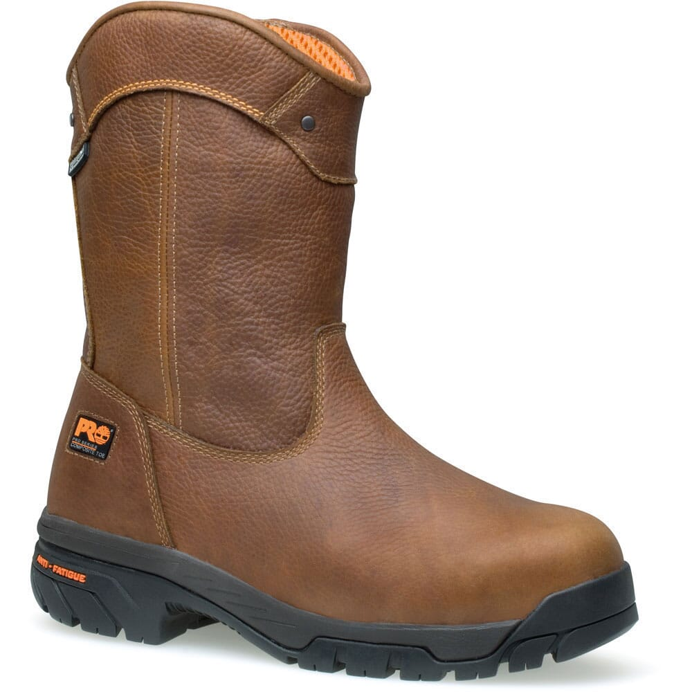 Image for Timberland PRO Men's Helix Wellington Safety Boots - Brown from bootbay
