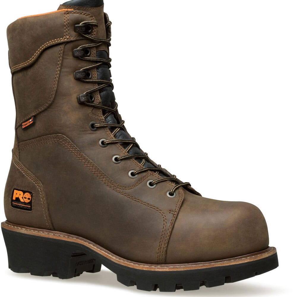 Image for Timberland PRO Men's Rip Saw WP Logger Boots - Brown from bootbay