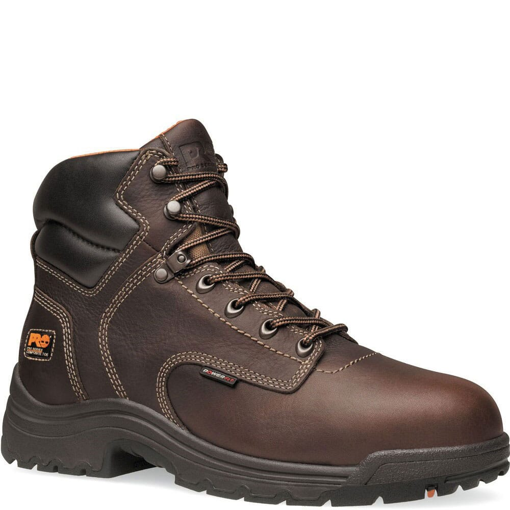 Image for Timberland PRO Men's TiTAN Safety Boots - Dark Brown from bootbay