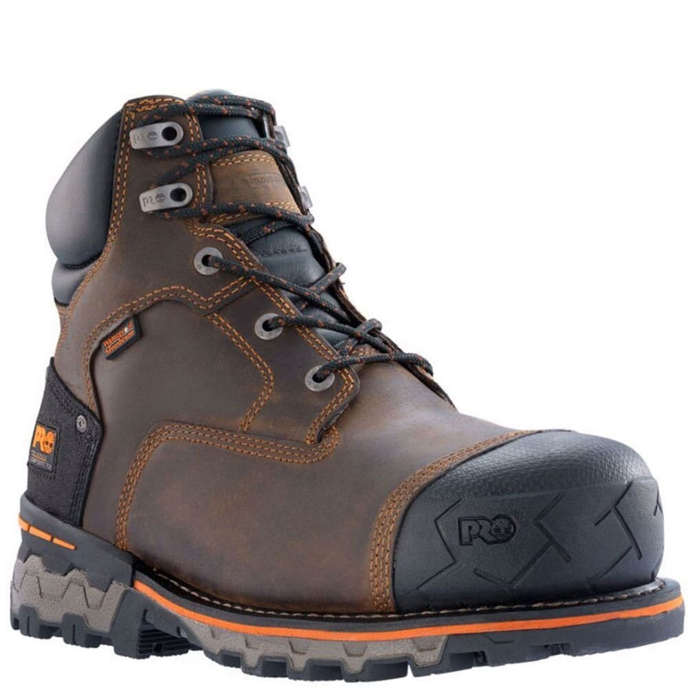 Image for Timberland Pro Men's Boondock CT WP Safety Boots - Brown from bootbay