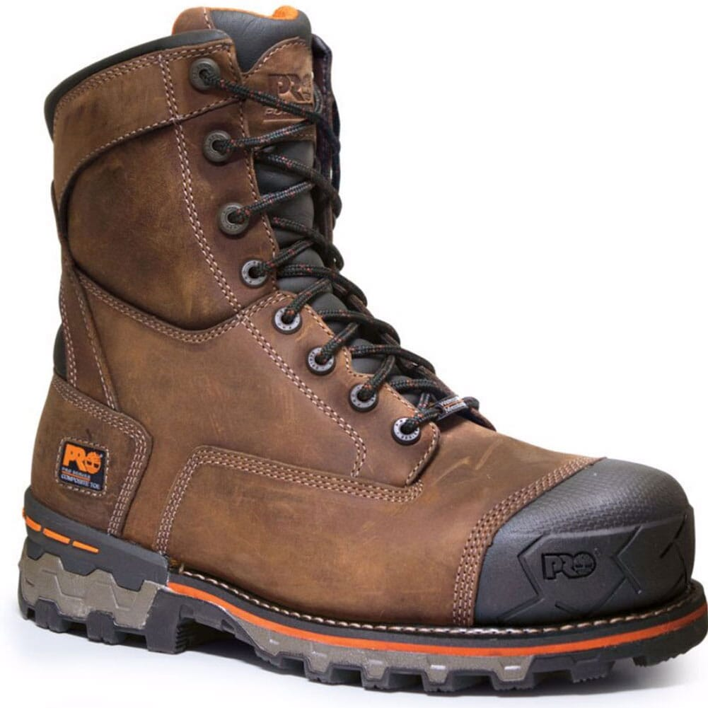 Image for Timberland Pro Men's Boondock CT Safety Boots - Brown from bootbay