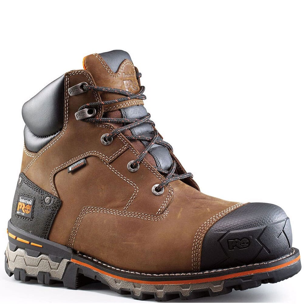 Image for Timberland Pro Men's Boondock WP EH Work Boots - Brown from bootbay