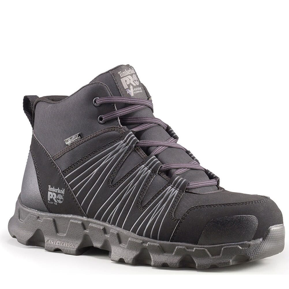 Image for Timberland PRO Men's Powertrain Mid Safety Boots - Black from bootbay