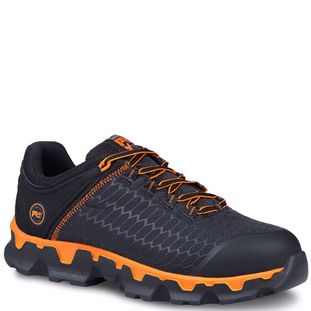 Image for Timberland Pro Men's Powertrain Safety Shoes - Black/Orange from bootbay