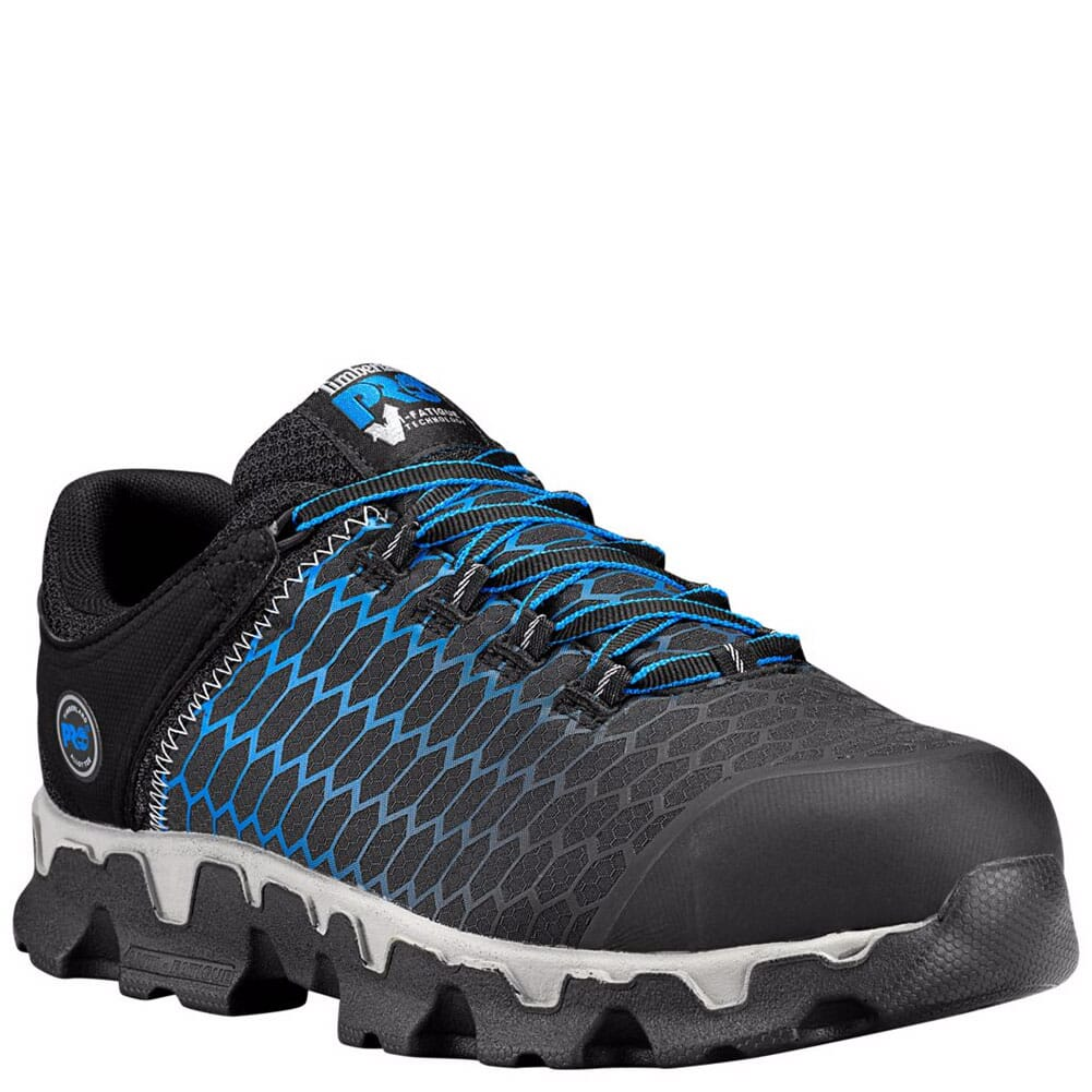 Image for Timberland Pro Men's Powertrain Safety Shoes - Black/Blue from bootbay