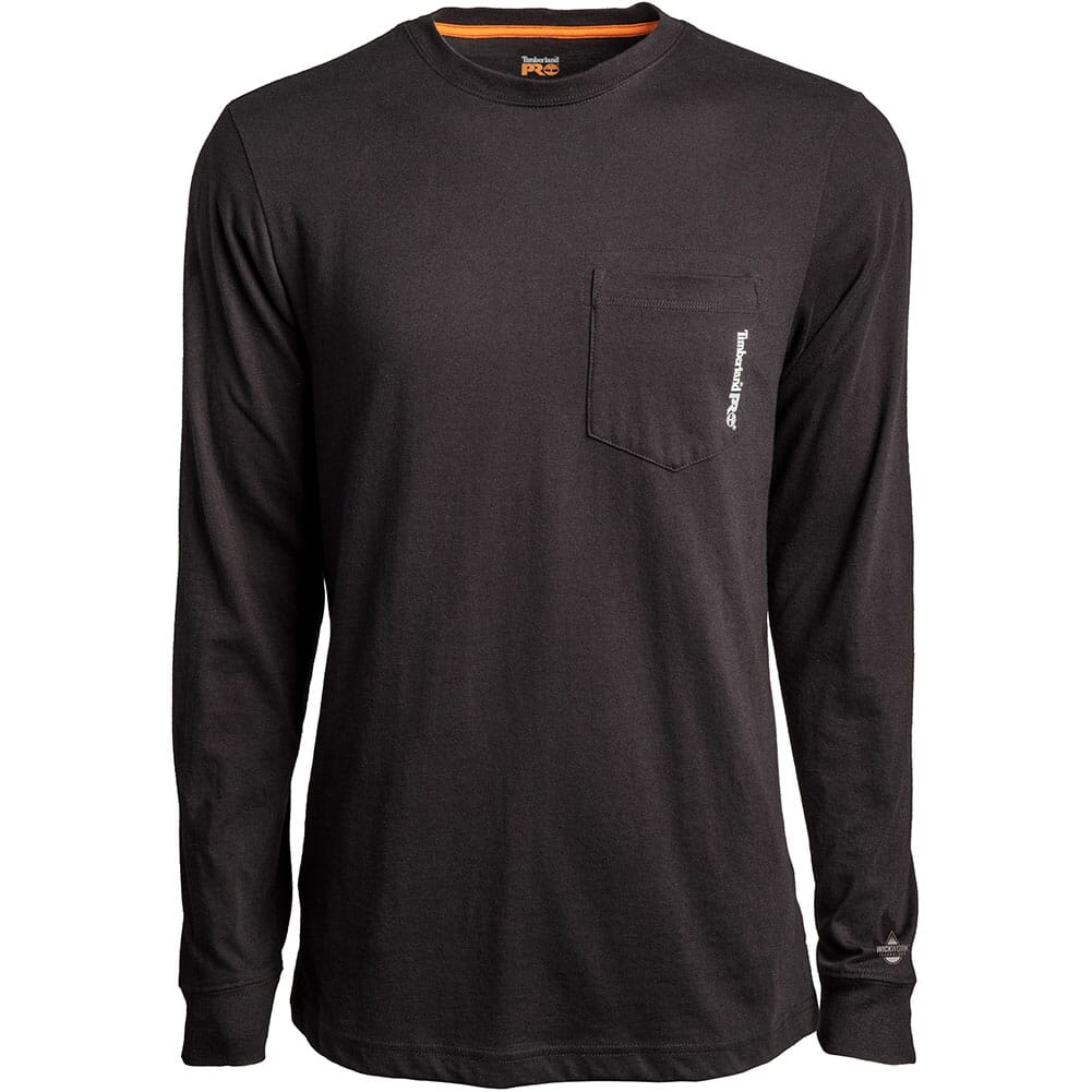 Image for Timberland Pro Men's Long Sleeve Base Plate Wicking T-Shirt - Black from bootbay