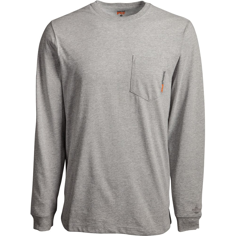 Image for Timberland Pro Men's Base Plate LS Pocket Tee - Light Grey Heather from bootbay
