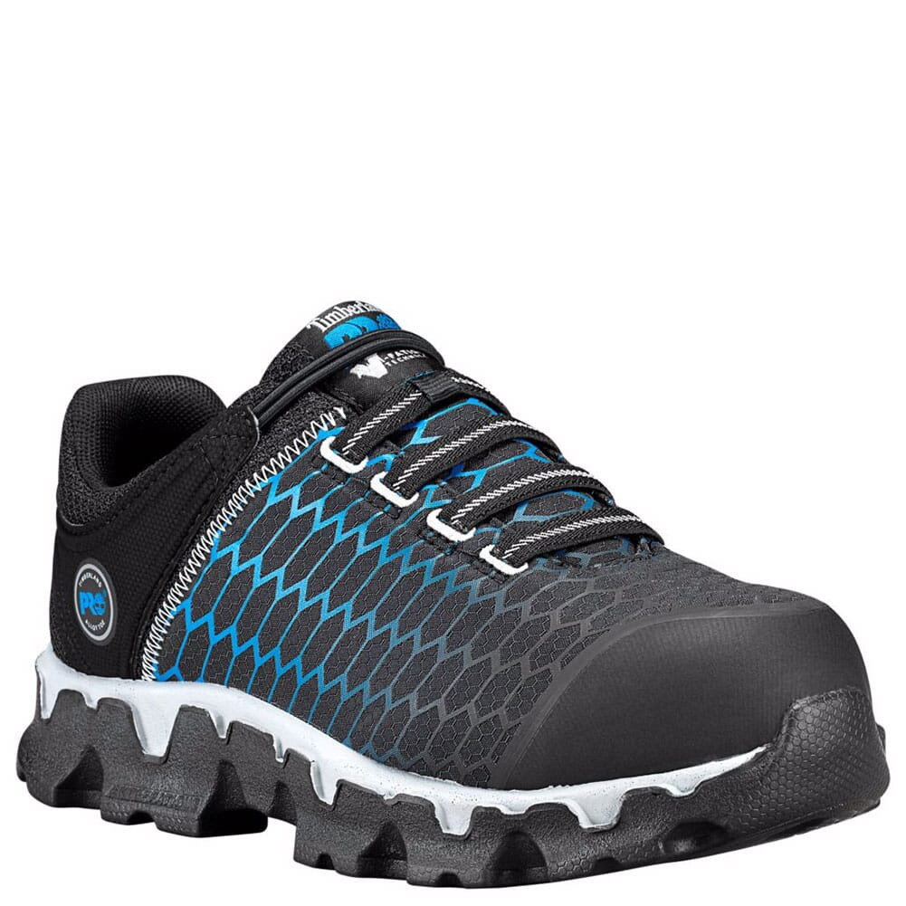 Image for Timberland PRO Women's Powertrain SD Safety Shoes - Black/Blue from bootbay