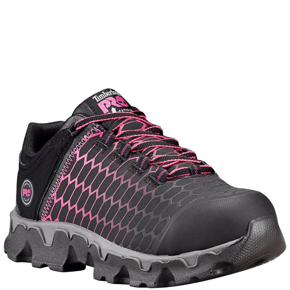 Image for Timberland PRO Women's Powertrain EH Safety Shoes - Black/Pink from elliottsboots
