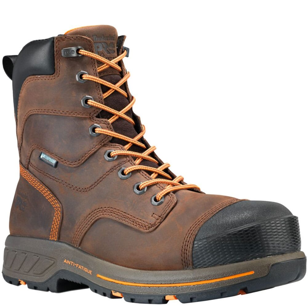 Image for Timberland PRO Men's Helix HD 8in Work Boots - Brown from bootbay