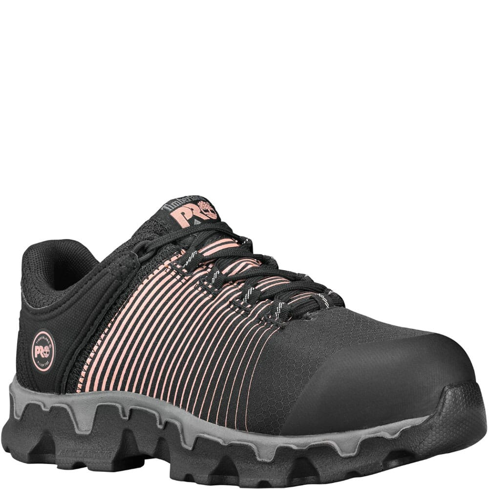Image for Timberland Pro Women's Powertrain Sport Safety Shoes - Black/Rose Gold from elliottsboots