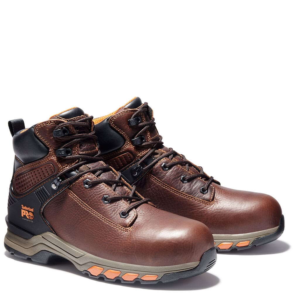 Image for Timberland Pro Men's Hypercharge Safety Boots - Brown from bootbay