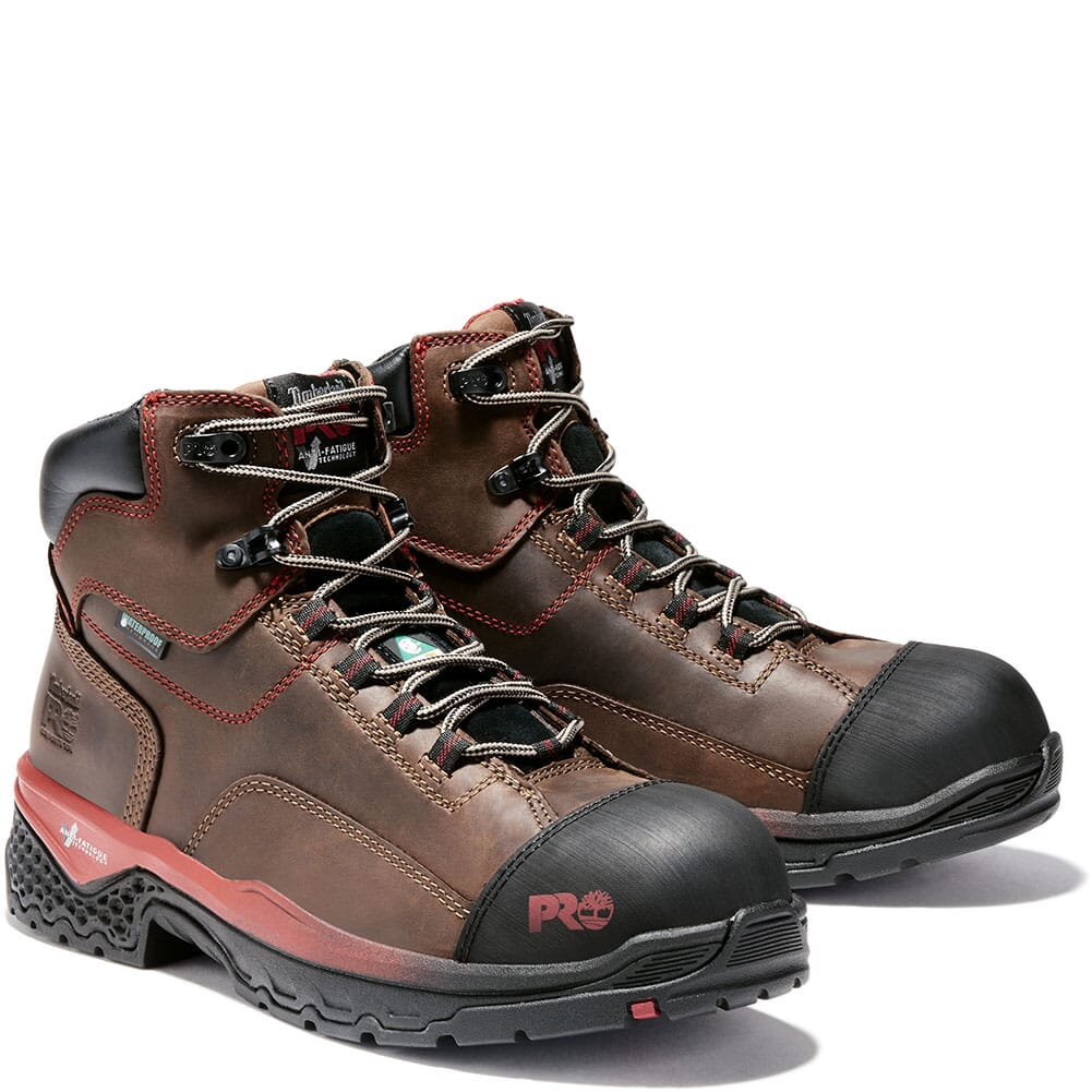 Image for Timberland Pro Men's Bosshog WP Safety Boots - Red Brown from bootbay