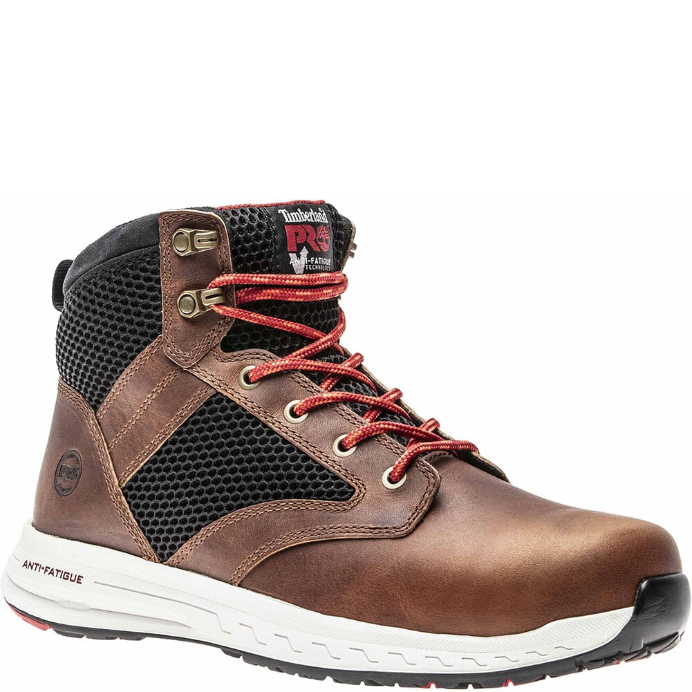 Image for Timberland Pro Men's Drivetrain Mid Safety Boots - Brown/Black from bootbay