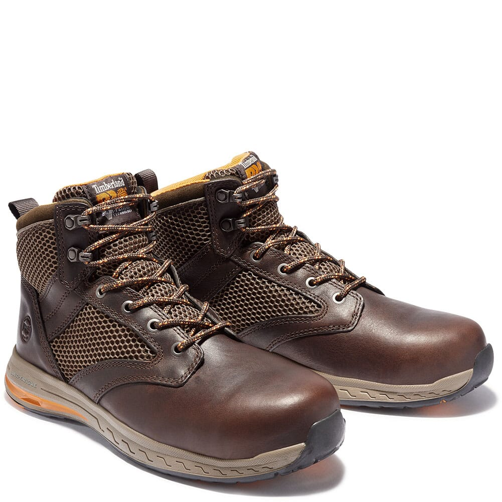 Image for Timberland Pro Men's Drivetrain Mid Safety Boots - Dark Brown from bootbay