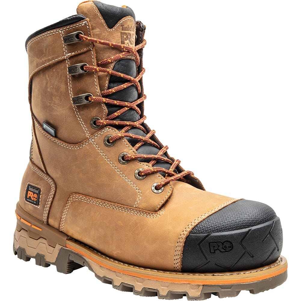 Image for Timberland Pro Men's Boondock Safety Boots - Wheat Distressed from bootbay