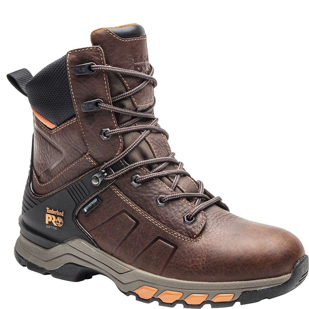 Image for Timberland Pro Men's Hypercharge Work Boots - Red Brown from bootbay