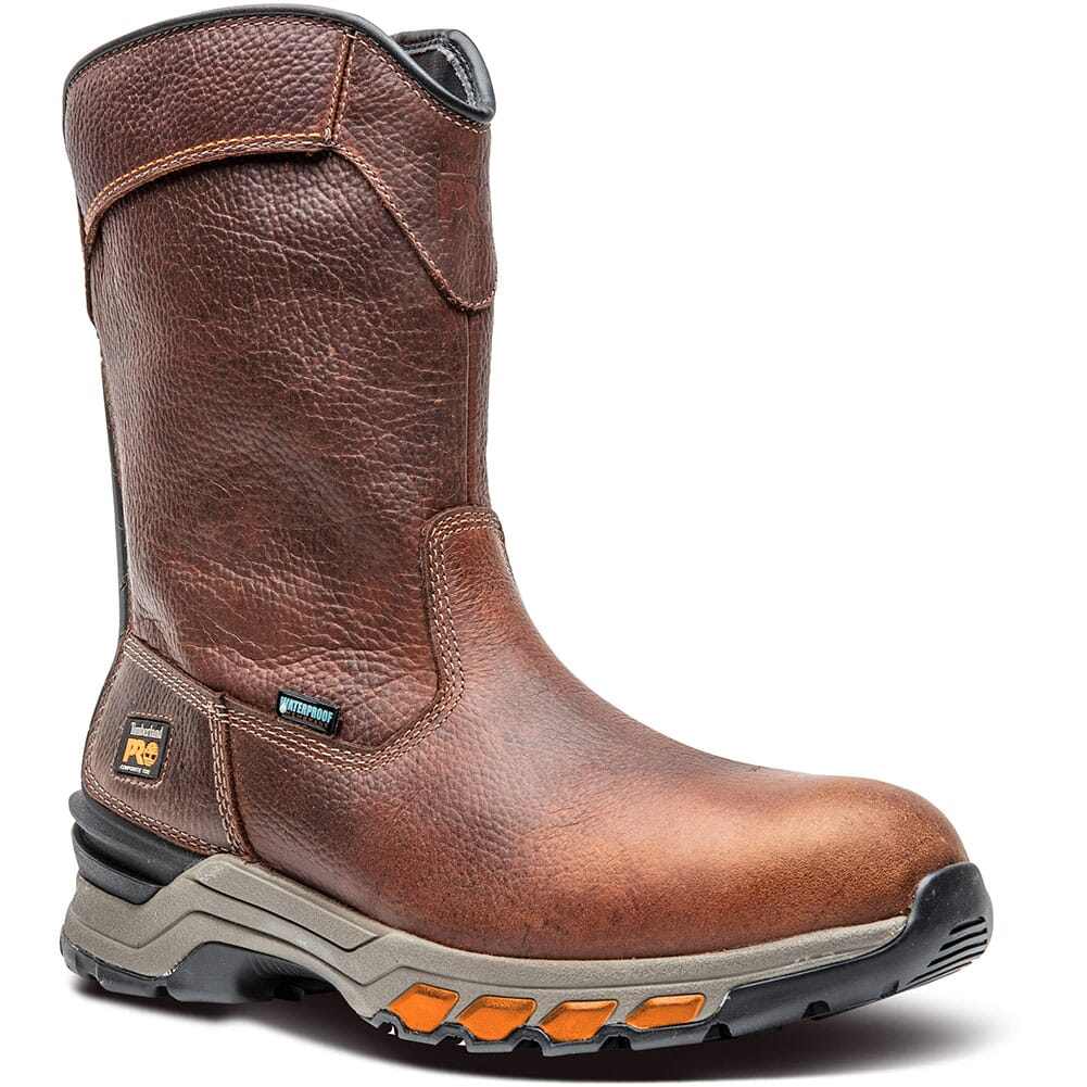 Image for Timberland PRO Men's Hypercharge Pull-On Work Boots - Brown from bootbay