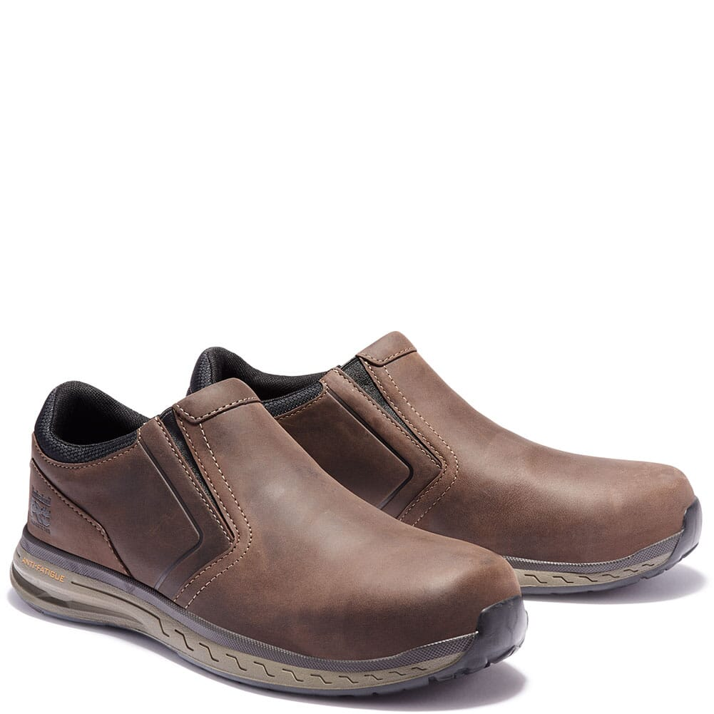 Image for Timberland PRO Men's Drivetrain CT Safety Slip Ons - Brown from bootbay