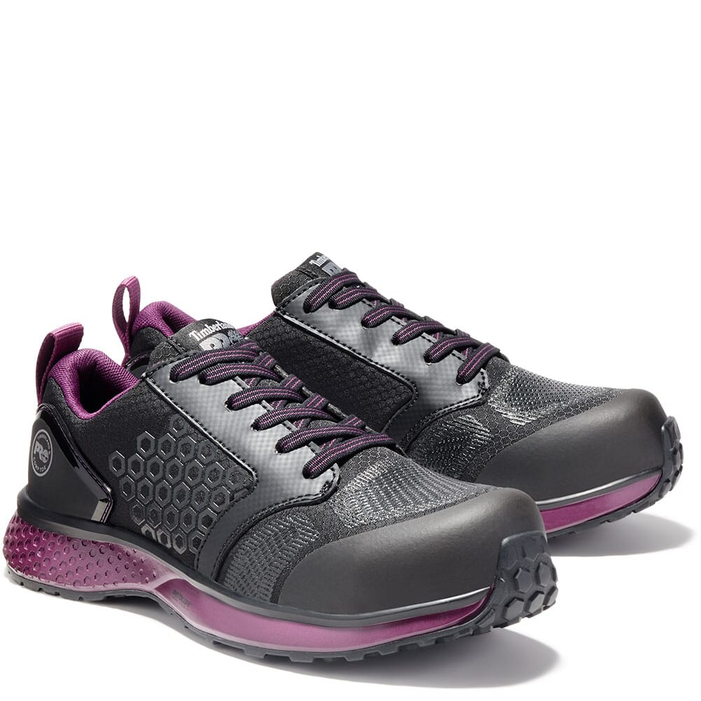 Image for Timberland PRO Women's Reaxion CT Safety Shoes - Black/Purple from elliottsboots