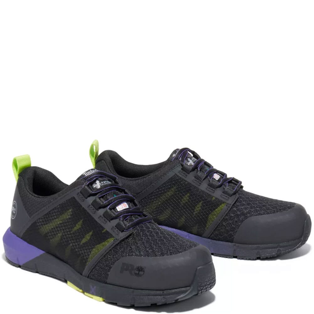 Image for Timberland Pro Women's Radius Safety Shoes - Black/Purple from bootbay